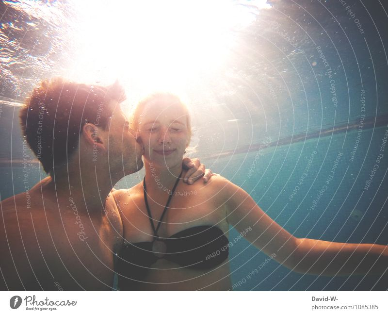 Water romance & 200 - thank you pretty Life Harmonious Vacation & Travel Tourism Sunbathing Human being Masculine Feminine Couple Partner 18 - 30 years