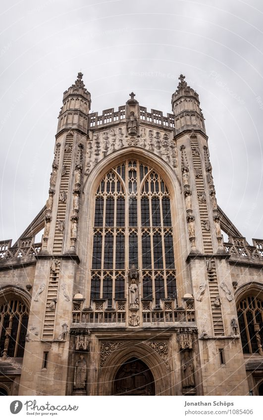 Bath Abbey II bath Town Old town Religion and faith Church Dome Tower Manmade structures Building Architecture Facade Tourist Attraction Landmark Esthetic
