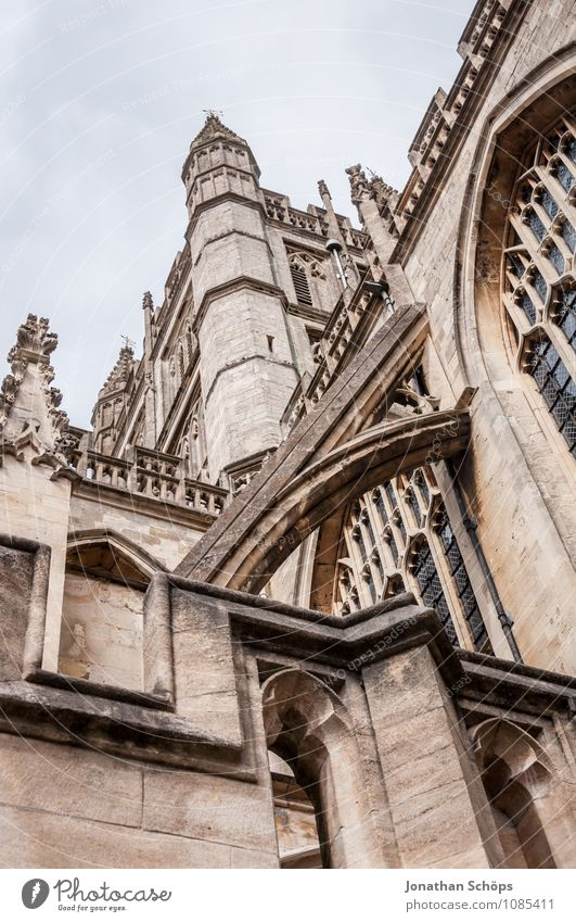 Bath Abbey III bath Town Old town Religion and faith Church Dome Tower Manmade structures Building Architecture Facade Tourist Attraction Landmark Esthetic