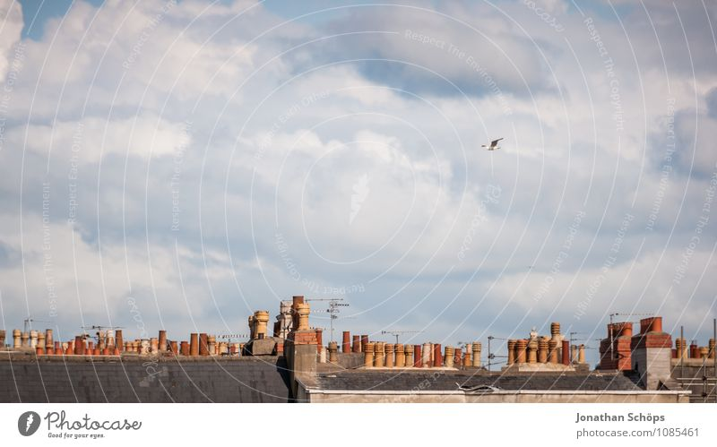 Bristol II Town Skyline Populated House (Residential Structure) Manmade structures Building Architecture Roof Chimney Esthetic Clouds Minimalistic English