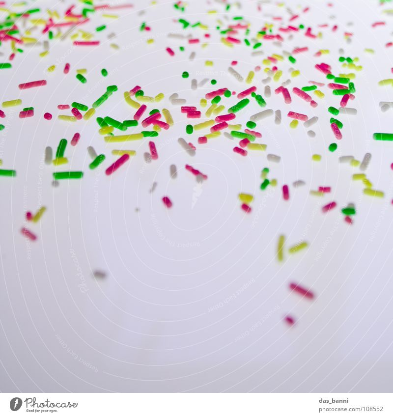 Candy Crumbs Granules Coulored sugar candy Bright background