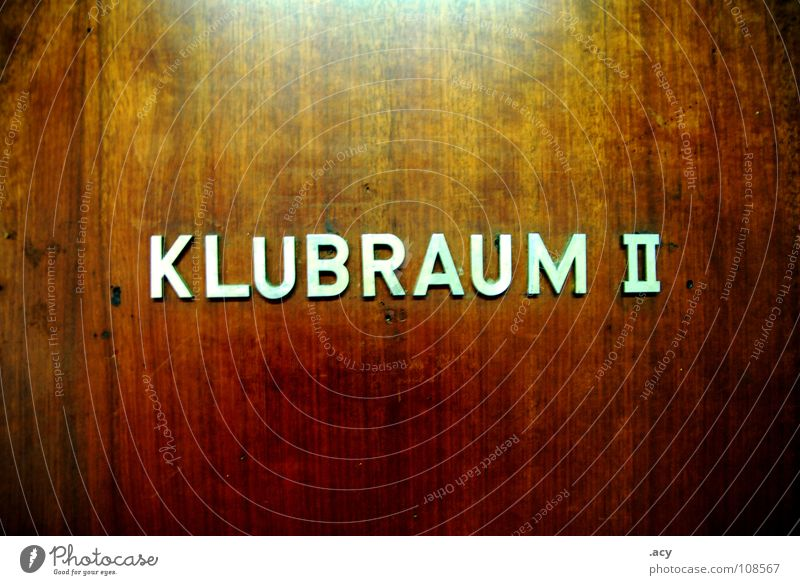 OST clubroom 2 Nostalgia for former East Germany Block capitals Club Wood Socialism Typography Characters Detail GDR brown Door
