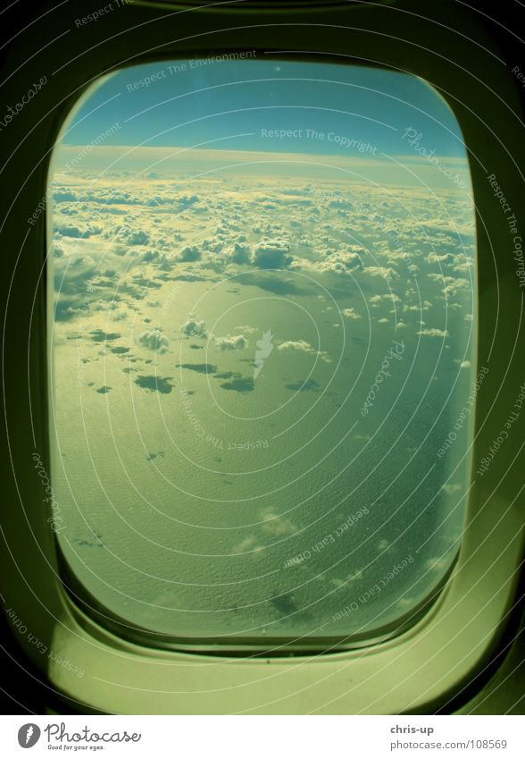Sky Nature Blue Water White Vacation & Travel Sun Ocean Clouds Relaxation Window Air Horizon Waves Airplane window Airplane