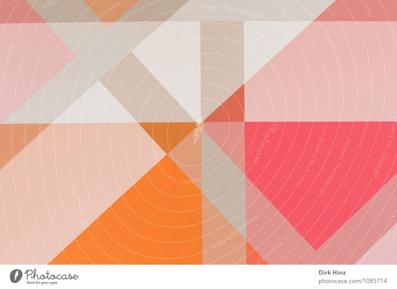 Pretty square. Art Modern Gray Orange Pink White Triangle Structures and shapes Rectangle Stripe Pattern Wallpaper pattern Superimposed Cover Double exposure