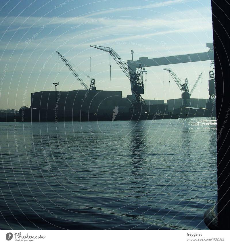 Water Ocean Industry Harbour Jetty Baltic Sea Promenade Kiel Schleswig-Holstein