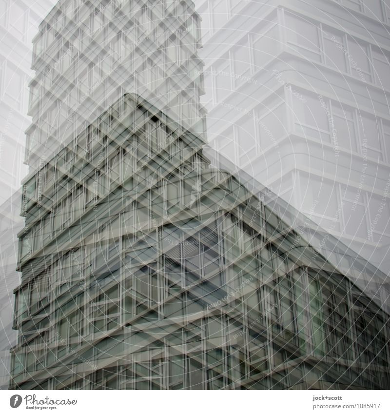 DISSOLUTION Style Design Office building Facade Corner Line Sharp-edged Fantastic Modern Gray Claustrophobia Chaos Inspiration Complex Concentrate Perspective
