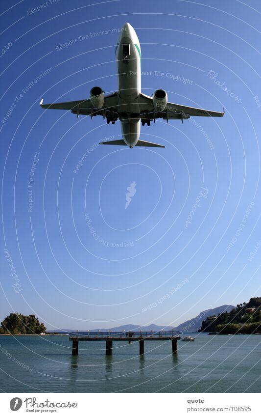 Water Sky Ocean Blue Power Airplane Force Energy industry Aviation Dangerous Multiple Island Technology Near Threat Airport