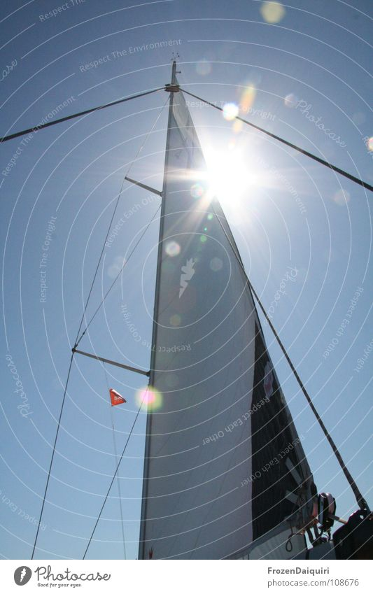 Sky Tree Sun Ocean Summer Vacation & Travel Clouds Watercraft Sailing Bavaria Electricity pylon Rag Sailboat Aquatics Croatia