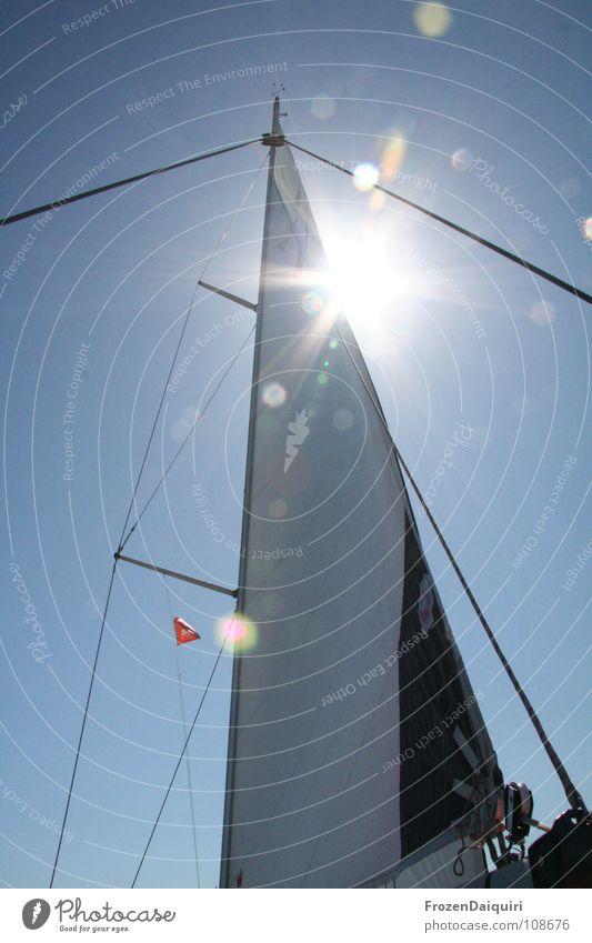 Sky Tree Sun Ocean Summer Vacation & Travel Clouds Watercraft Sailing Bavaria Electricity pylon Rag Sailboat Aquatics Croatia