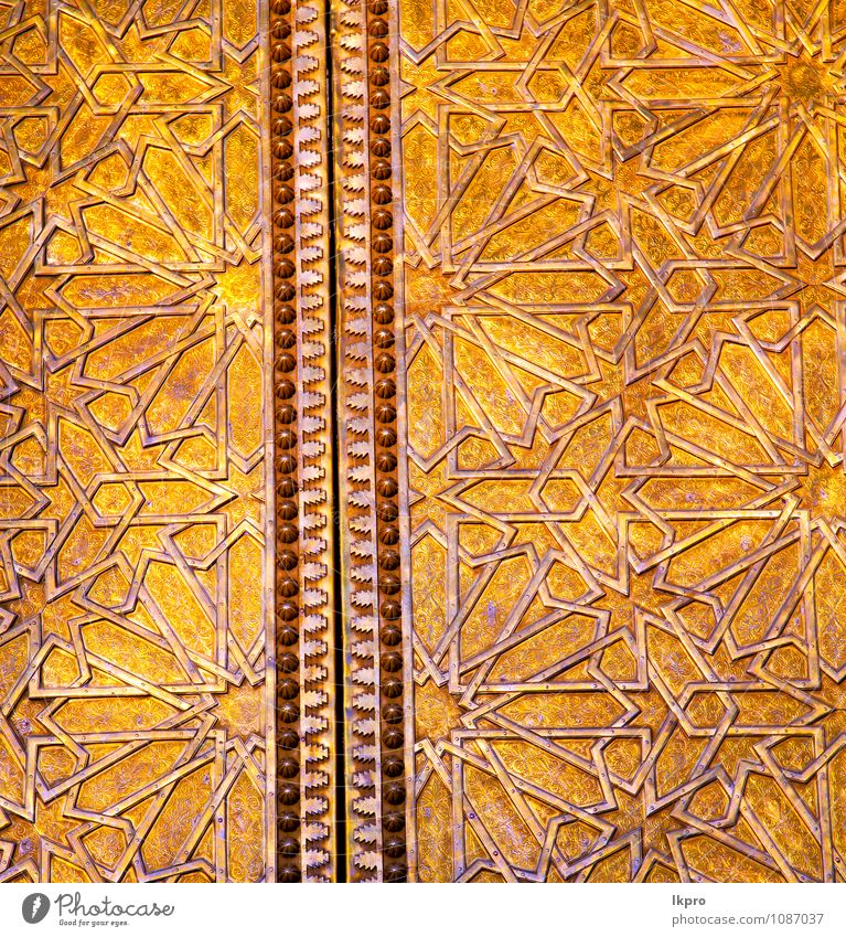 in africa the old wood Style Design Decoration Building Architecture Door Metal Gold Steel Old Dirty Historic Retro Yellow Gray Safety Protection