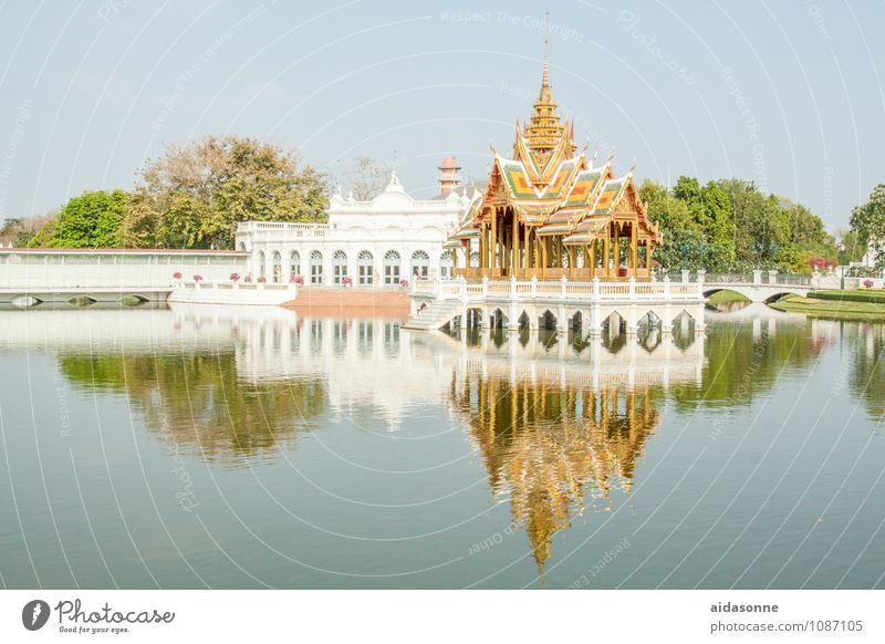 summer palace Bangkok Thailand Asia Capital city Downtown Old town Palace Tourist Attraction Summer palace Relaxation Moody Vacation & Travel Lakeside