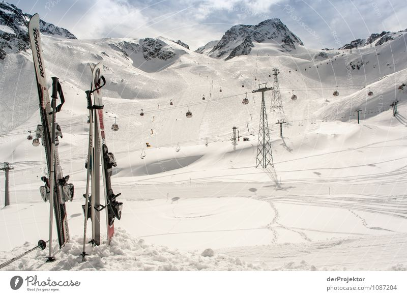 Nature Vacation & Travel Landscape Joy Winter Mountain Environment Emotions Snow Contentment Tourism Trip Joie de vivre (Vitality) Beautiful weather Peak Alps