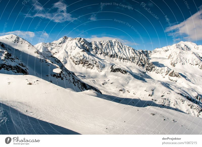 Ice, snow and blue sky Vacation & Travel Tourism Far-off places Freedom Sports Winter sports Skiing Environment Nature Landscape Elements Clouds
