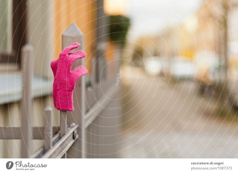 soft pink Town Fence Metalware iron fence Street Gloves Wait Simple Friendliness Happiness Fresh Point Gray Orange Pink Spring fever Endurance Orderliness