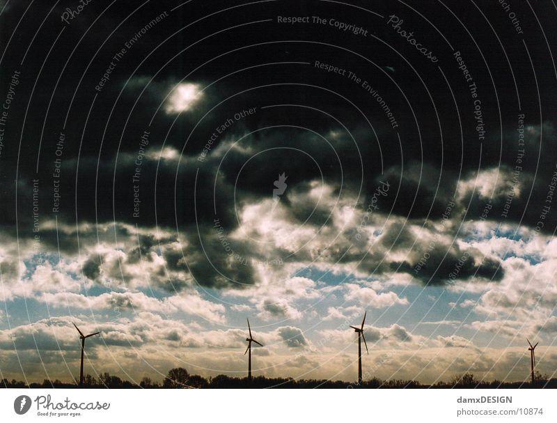 apocalypse Dark Clouds Apocalypse Sky Wind energy plant Weather