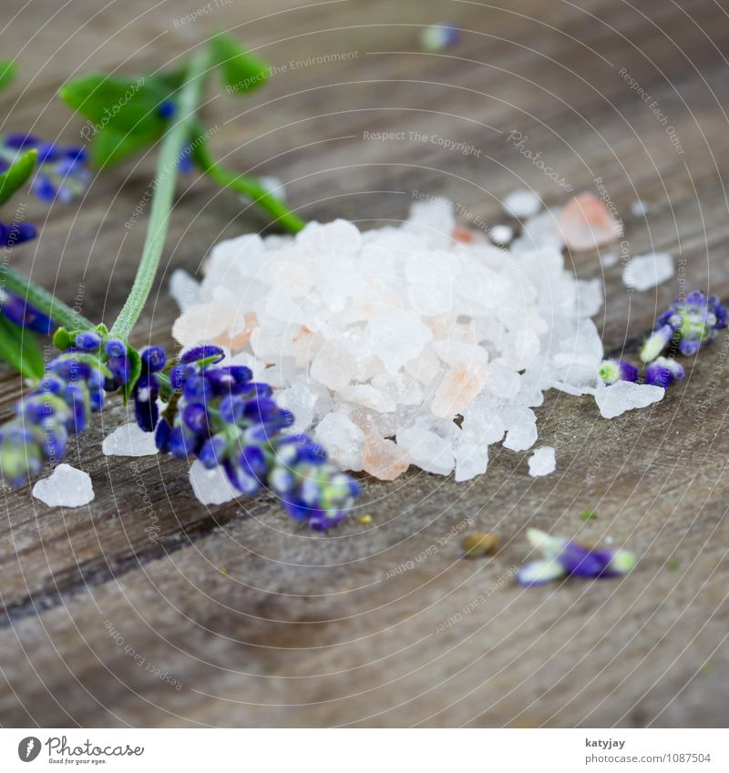 Salt and Lavender Cooking salt bath salts Ocean Swimming & Bathing Bathtub Wellness Aromatic Fragrance Blossom Sense of taste Herbs and spices Well-being