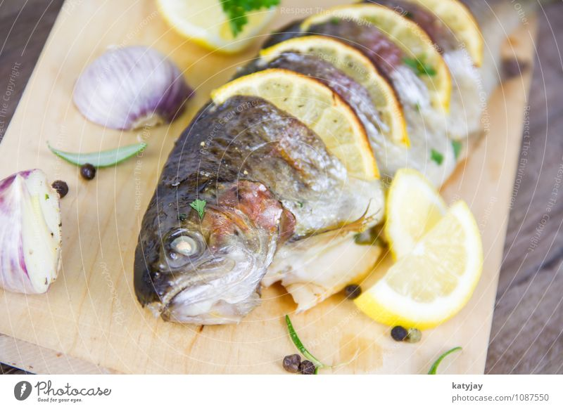 Summer Fresh Nutrition Cooking & Baking Fish Near Restaurant Barbecue (event) Dinner Barbecue (apparatus) Lemon Roast Rosemary Trout Parsley
