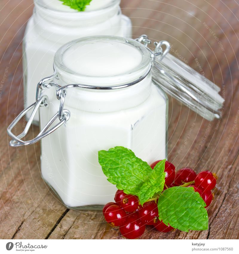 yogurt Yoghurt Cream Milk Redcurrant Skimmed milk Fruit Quark Nature Berries wild berries Organic produce calcium Breakfast Vitamin Dessert Dairy Products
