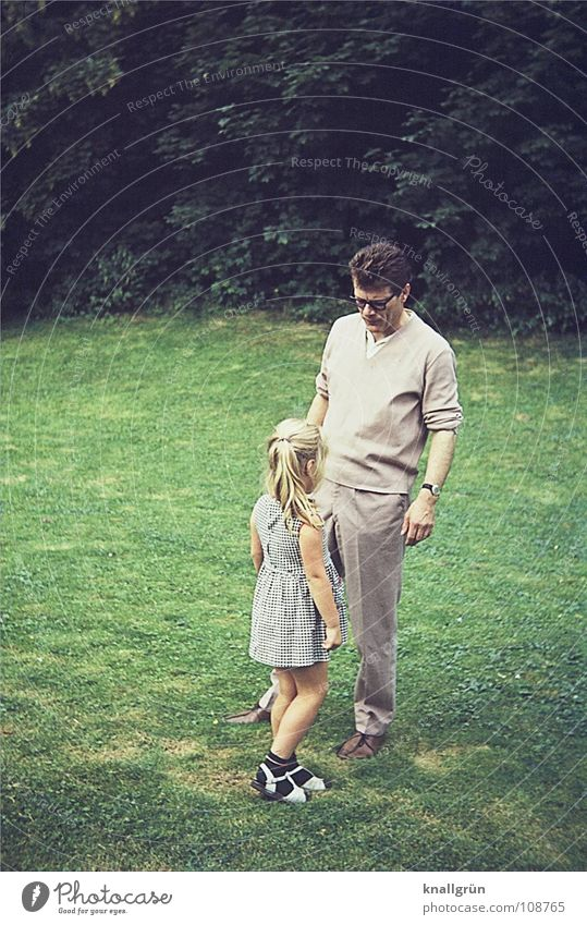 Child Man Girl Summer Meadow Family & Relations Father Daughter Sixties Allocate Father's Day
