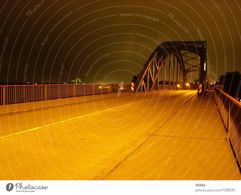 Loneliness Street Autumn Industry Bridge Duisburg The Ruhr Ruhrort