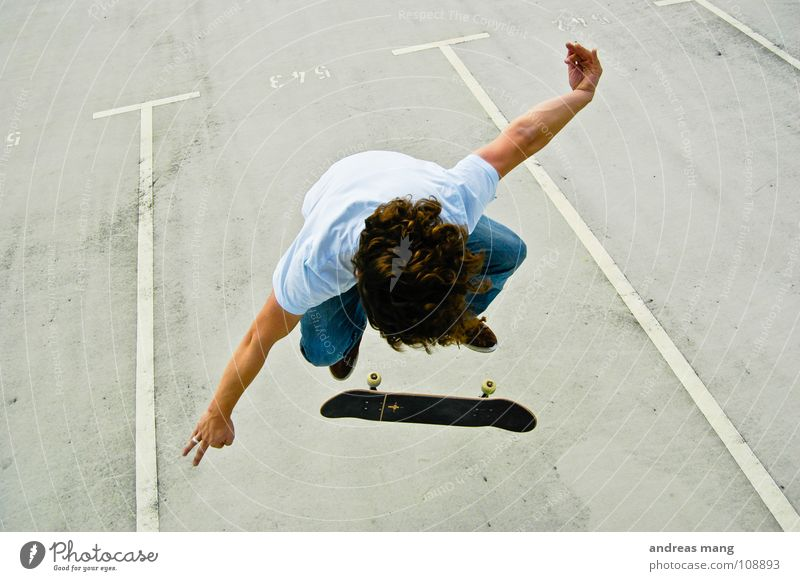 Fakie Flip with Style Kickflip Skateboarding Man Athlete Sports Driving Jump To enjoy Parking lot Extreme Extreme sports Parking level Boy (child) athletic