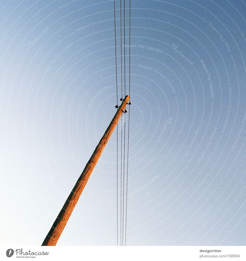 Sky Above Earth Communicate Connection Under Top God Prayer Vertical Telegraph pole Connect Deities Telephone line