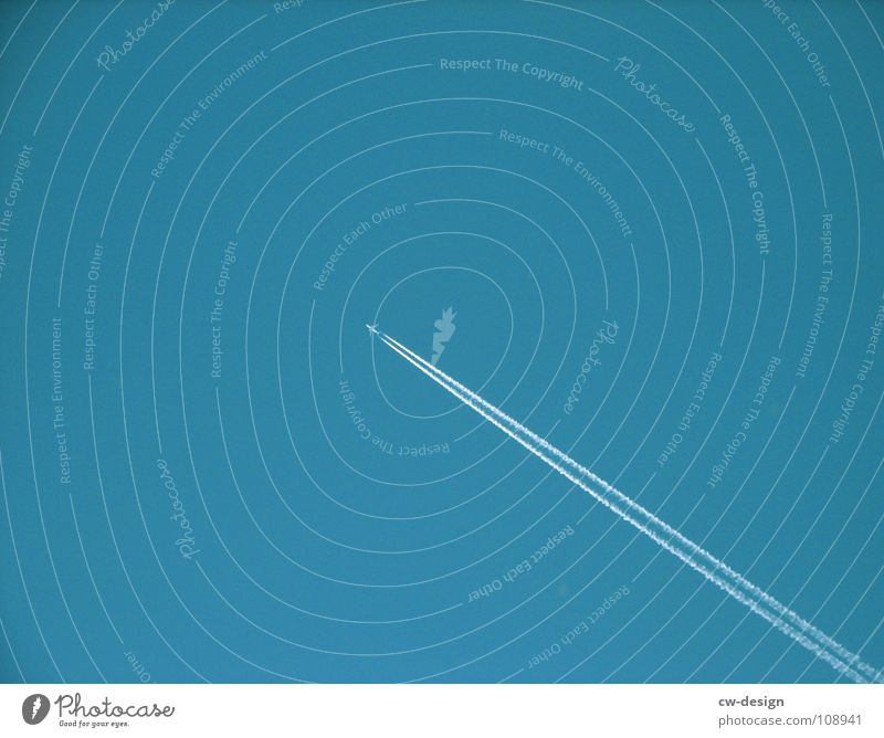 Blue Air Small Flying Airplane Beginning Free Aviation Target Middle Diagonal Upward Tilt Graphic Blue sky Floating