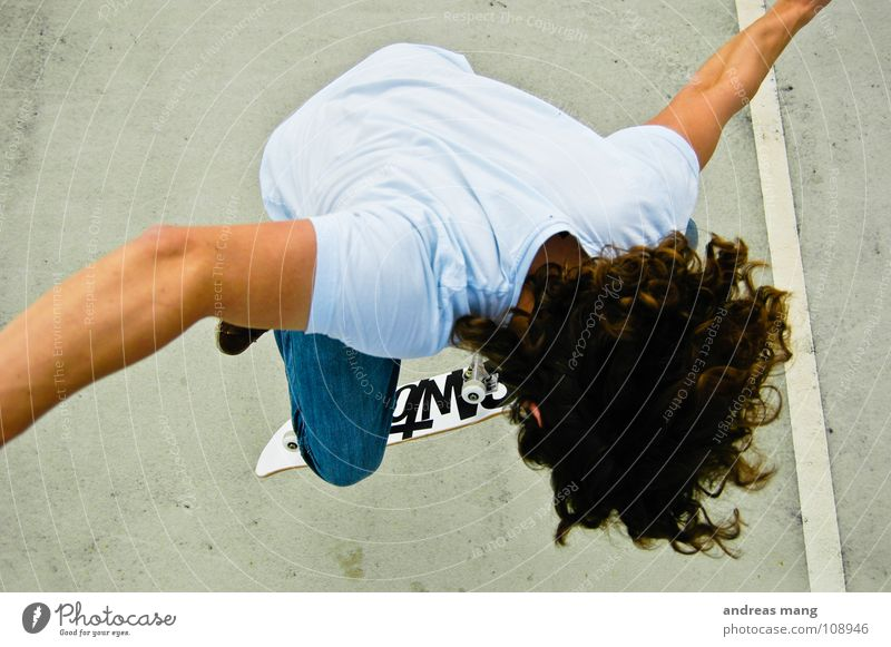 Man Joy Style Sports Flying Line Jump To enjoy Driving Athletic Skateboarding Effort Parking lot Coil Extreme
