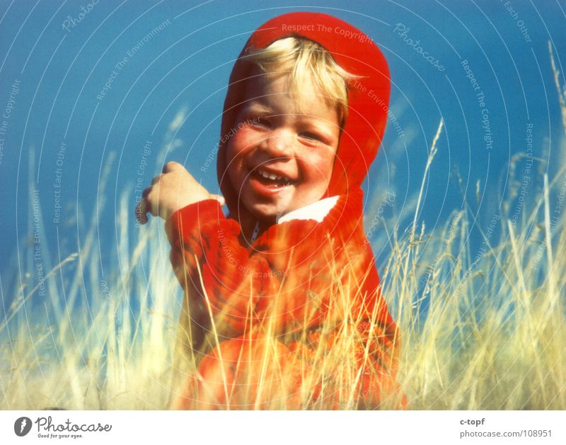 Child Summer Joy Boy (child) Meadow Laughter Toddler Cornfield Hooded (clothing) Ear of corn Milk teeth