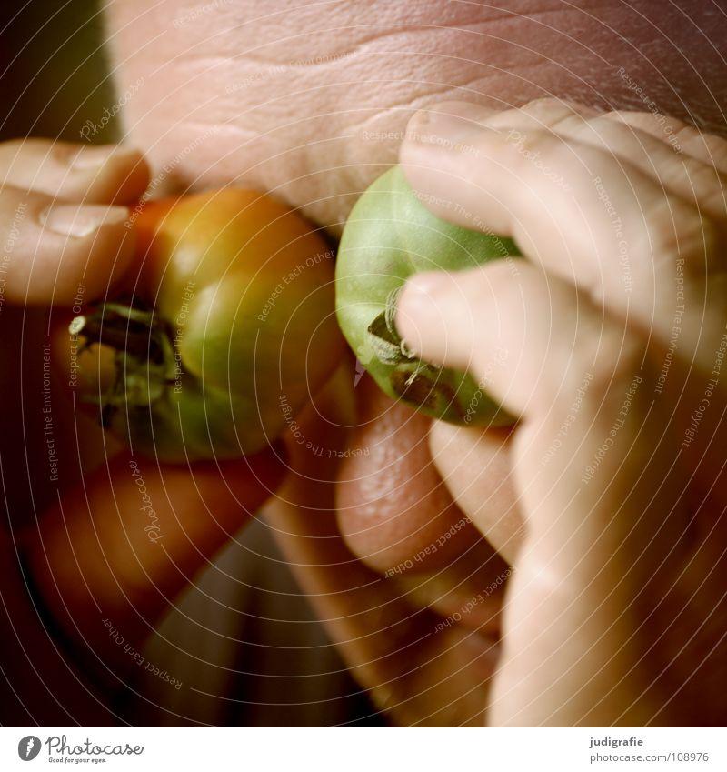 Man Hand Green Joy Eyes Colour 2 Vegetable Tomato Blind Figure of speech Ignore Immature