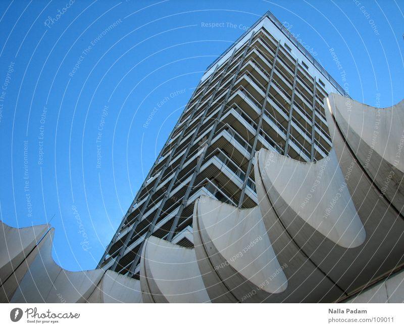 Sky Blue White Architecture Modern High-rise Upward GDR Vertical Blue sky Aspire Cloudless sky Skyward Cladding Travel bureau