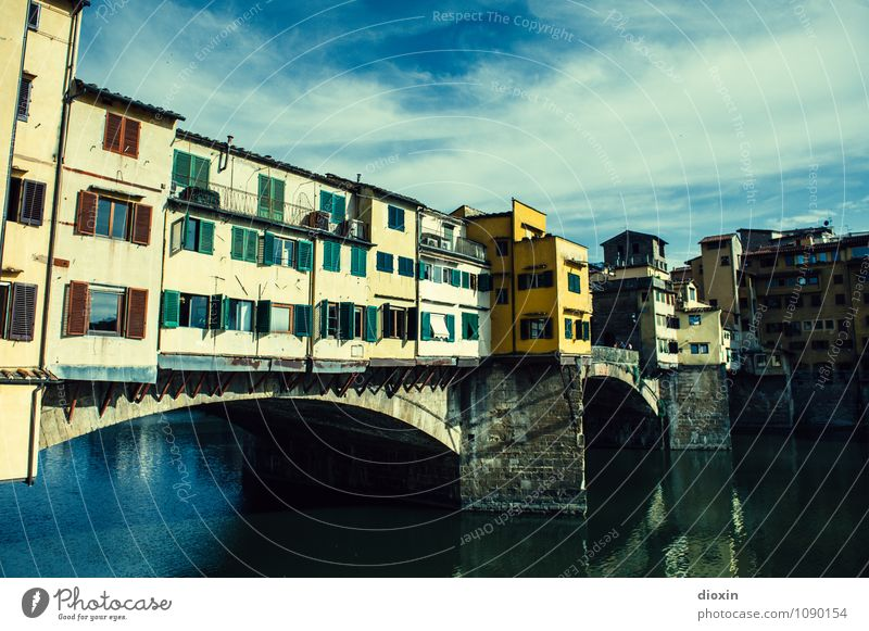 Sky Vacation & Travel City Old Summer Clouds House (Residential Structure) Architecture Building Tourism Authentic Beautiful weather Bridge Italy Historic River