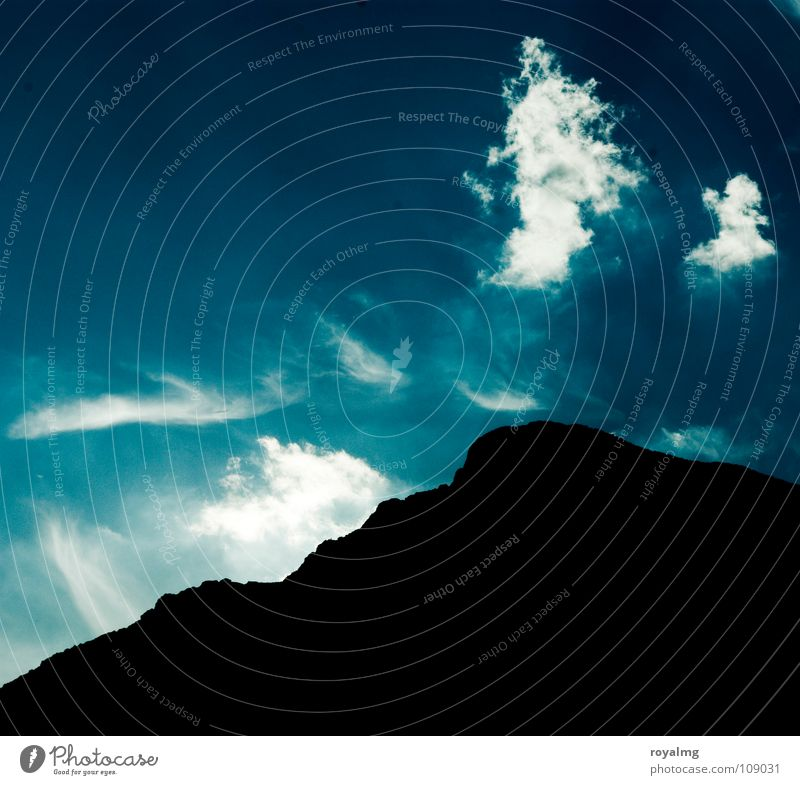 behind the seven mountains Clouds Black Peak White Summer Italy Mountain Sky Blue