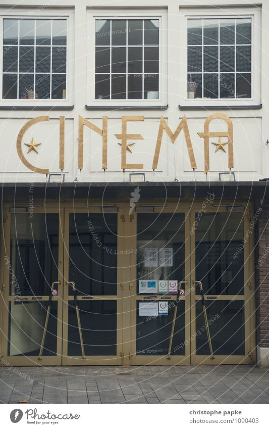 cinema Cinema House (Residential Structure) Door Old Historic Closed Colour photo Subdued colour Exterior shot Deserted Day