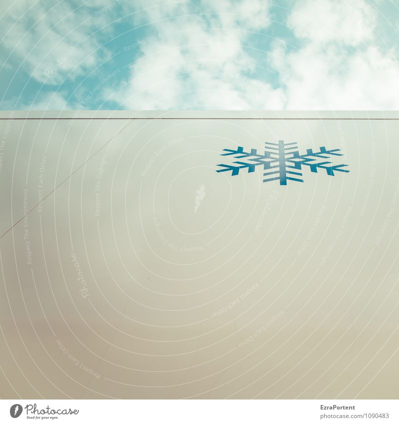 last snowflake Design Sky Clouds Winter Climate Weather Ice Frost Snow Metal Sign Line Cold Blue White Cool (slang) Illustration Snowfall Snowflake Snow crystal