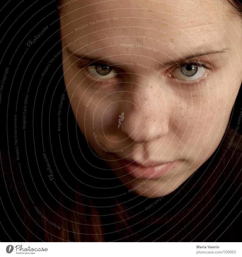 Woman Youth (Young adults) Face Eyes Think Mouth Nose Self portrait Eyebrow Amazed Skeptical Doubt Mistrust Perplexed Disbelief Agnostic