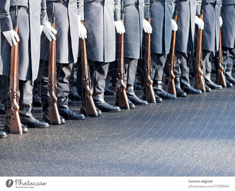 Soldiers of the Guard Regiment of the German Armed Forces Profession Street Coat Boots Together War Germany Army Brigade Federal armed forces Diagonal drill