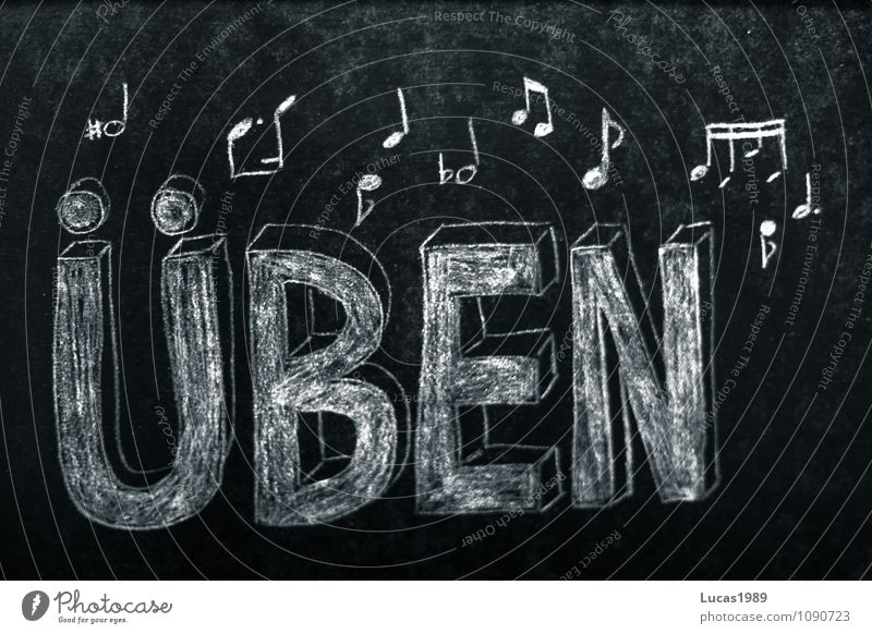 Practice writing with notes drawn on blackboard Music Concert Singer Choir Band Musician Orchestra Musical notes practice schuler Musical instrument