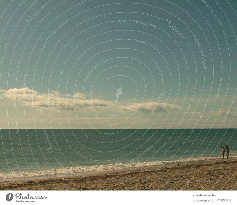 Human being Sky Ocean Green Blue Beach Clouds Sand Weather