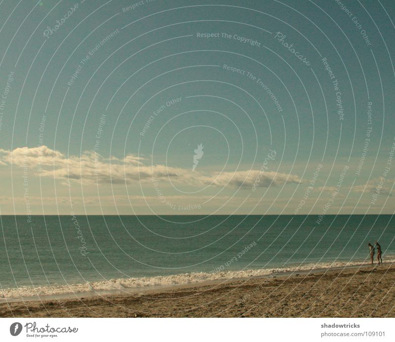 New Love Ocean Beach Clouds Green Human being Sky Weather Blue Czan Sand