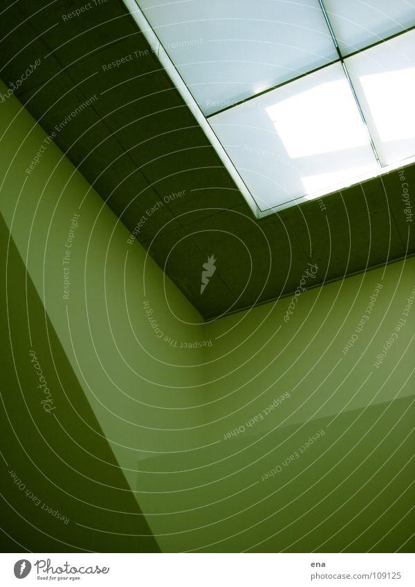 White Green Wall (building) Window Above Line Room Modern Interior design Clarity Pure Square Handrail Border Idea