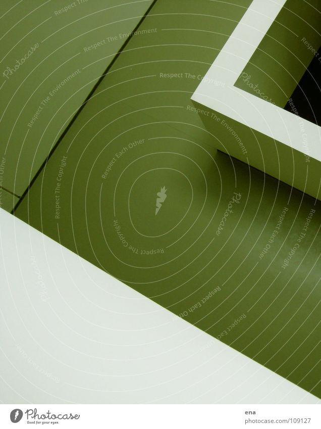 White Green Wall (building) Above Line Room Modern Interior design Clarity Pure Square Handrail Border Idea Parallel