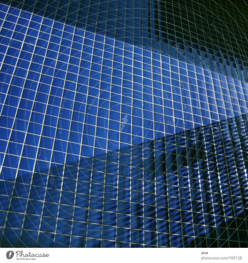 Blue Wall (building) Above Line Glittering Modern Net Clarity Pure Balcony Tile Square Handrail Border Idea