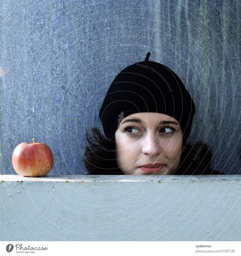 All about Eve X Autumn Seasons Woman Industrial site Beautiful Portrait photograph Discover Nutrition Symbols and metaphors Attempt Mysterious Beret Cap Black