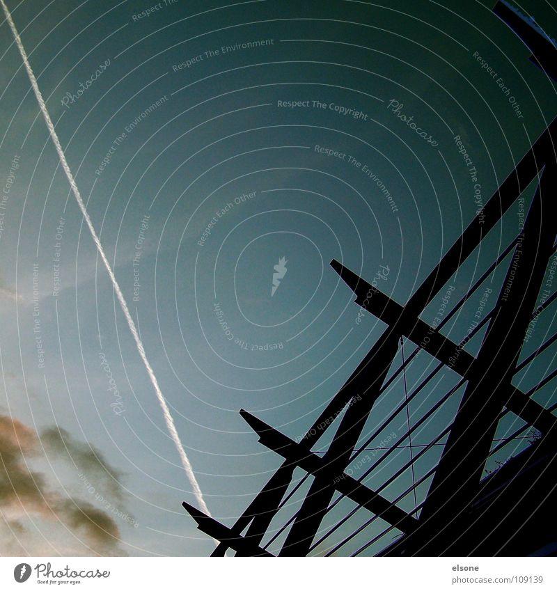 ::KEROSINE:: Night Dark Airplane Stripe White Black Clouds Medium format Simple Minimal Modern Airport Evening kerosene Crazy V silluette Line goldtown