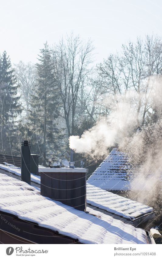 Sky Nature Sun Winter Cold Environment Life Warmth Above Energy industry Roof Frost Seasons Smoke Smoking