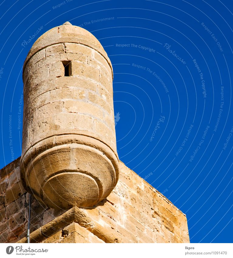 and the tower near sky Sky Vacation & Travel Old Blue Summer Landscape Clouds Black Yellow Architecture Building Gray Stone Brown Sand Tourism