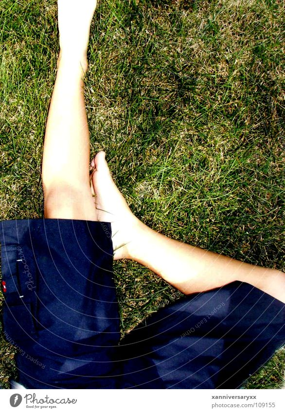 Boy Shorts brother outside grass letter To fall tan blue shorts