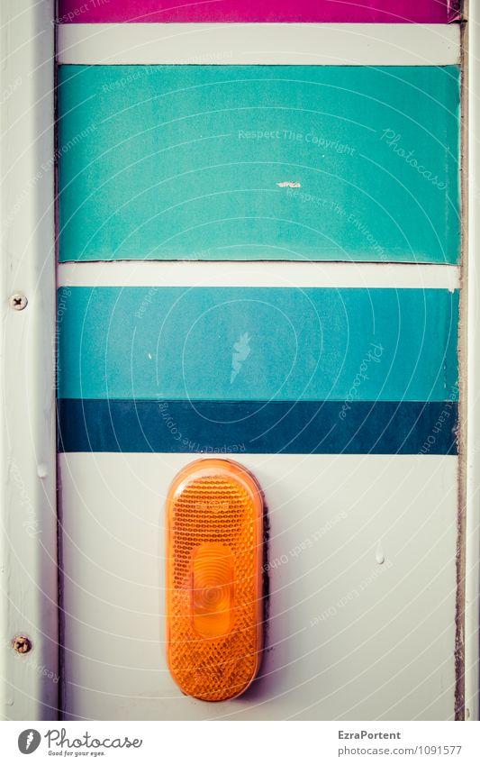 Take taillight Design Transport Means of transport Vehicle Mobile home Caravan Metal Plastic Line Stripe Blue Gray Orange Turquoise White Colour Illustration