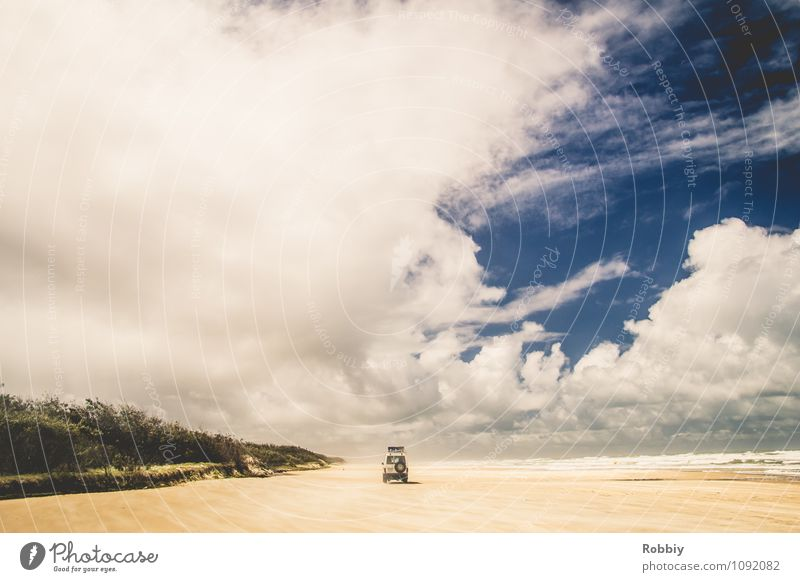 Sky Nature Vacation & Travel Relaxation Ocean Landscape Clouds Beach Coast Freedom Sand Leisure and hobbies Car Idyll Island Beautiful weather